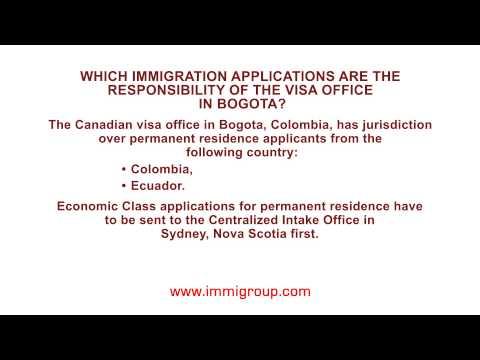 Jurisdiction of the visa office in Bogota for permanent residence applicants