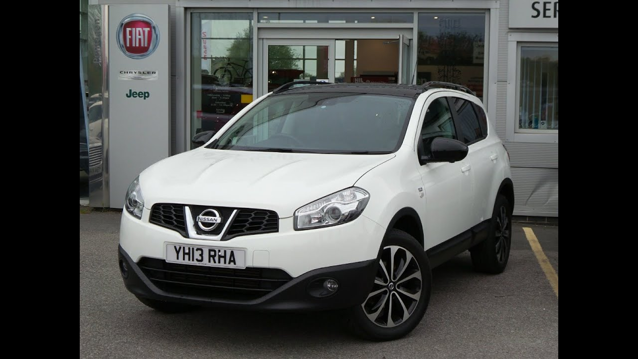 2013 13 nissan qashqai 1 5 dci 110 360 5dr in white youtube. Black Bedroom Furniture Sets. Home Design Ideas
