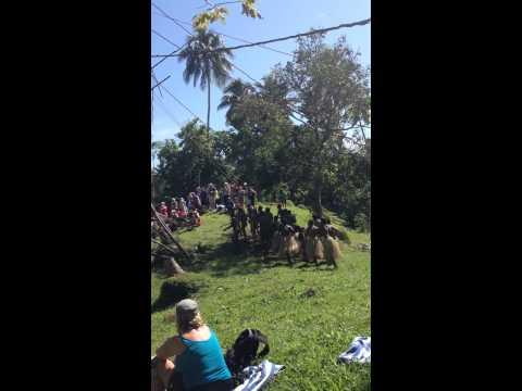 Penntecost - Vanuatu Group dancing / singing at land diving ground