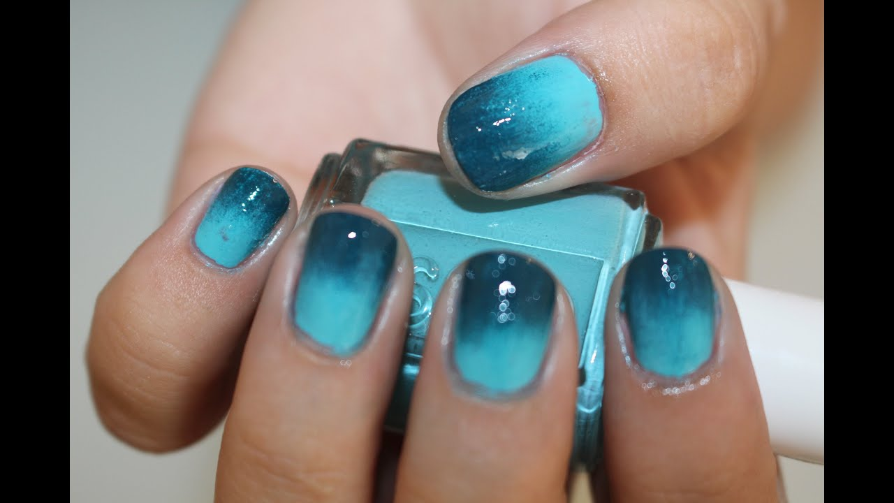 Diy ombre nail art using essie nail polish nail tutorial youtube prinsesfo Images