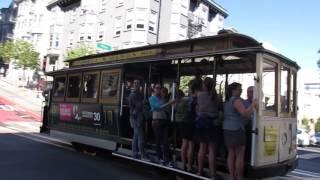 Powell-Mason Cable Cars 3 & 13 @ Powell St & Pine St San Francisco California