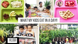 WHAT MY KIDS EAT IN A DAY VLOG // MEAL IDEAS FOR KIDS // SAHM OF 3