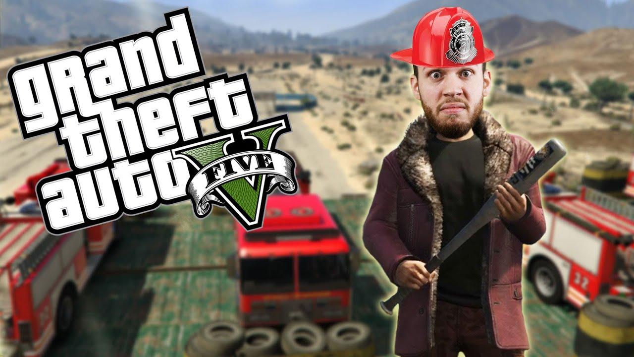 FIRETRUCKS AND GRENADES - GTA 5 Online Funny Moments - Stack Vid