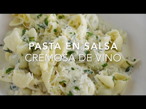 Pasta Con Salsa Cremosa De Vino Blanco Recetas Fáciles Pizca De Sabor