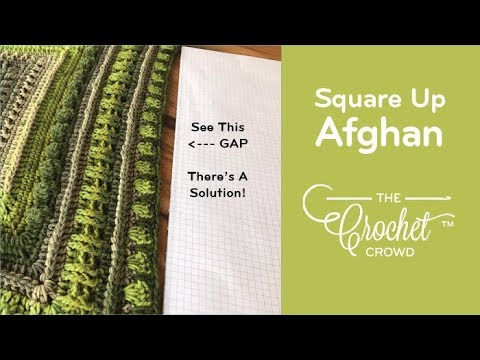 How to Square Up Middle of Granny Afghans to Match Corners