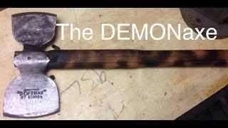 "DIY making a Viking axe ""DEMONAX"""