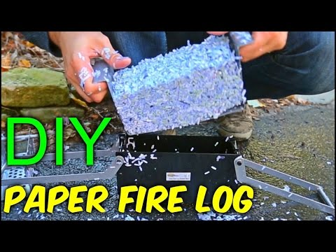 DIY Paper Fire Logs