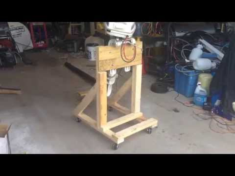 How To: Build a Boat Outboard Engine Stand DIY Cart