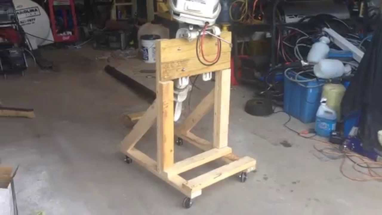 How To: Build a Boat Outboard Engine Stand DIY Cart - YouTube