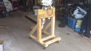 Boat Outboard Engine Stand Diy Cart