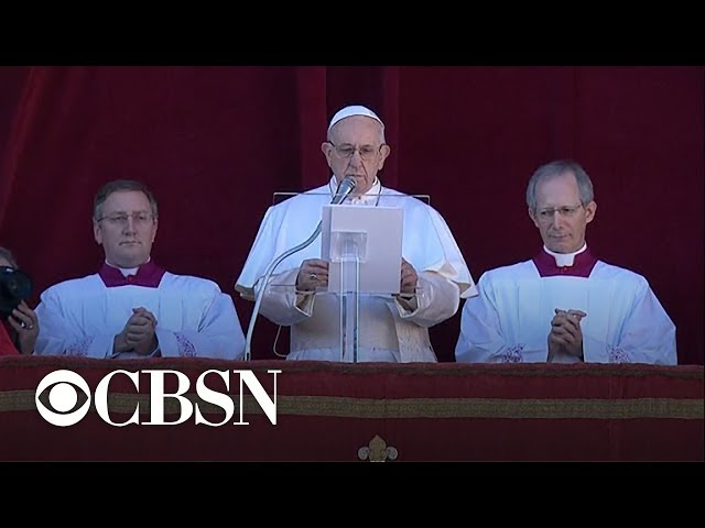 Pope Francis delivers annual Christmas message