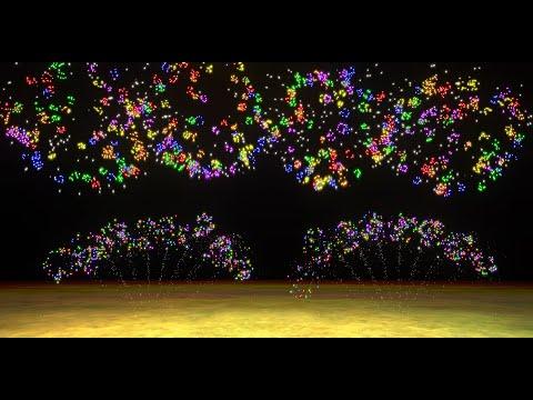 Feu d'artifice FWsim - Musique Coldplay