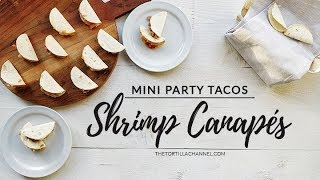 Mini party tacos shrimp canapes snack recipe