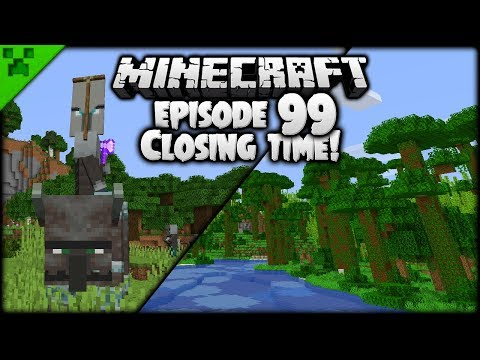 Closing Time! PILLAGER BEAST ARMY!   Python's World (Minecraft Survival Let's Play)   Episode 99