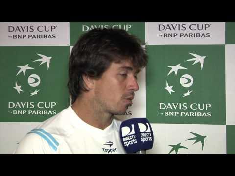 Entrevista a Carlos Berlocq. Copa Davis - ARG vs. ISR.