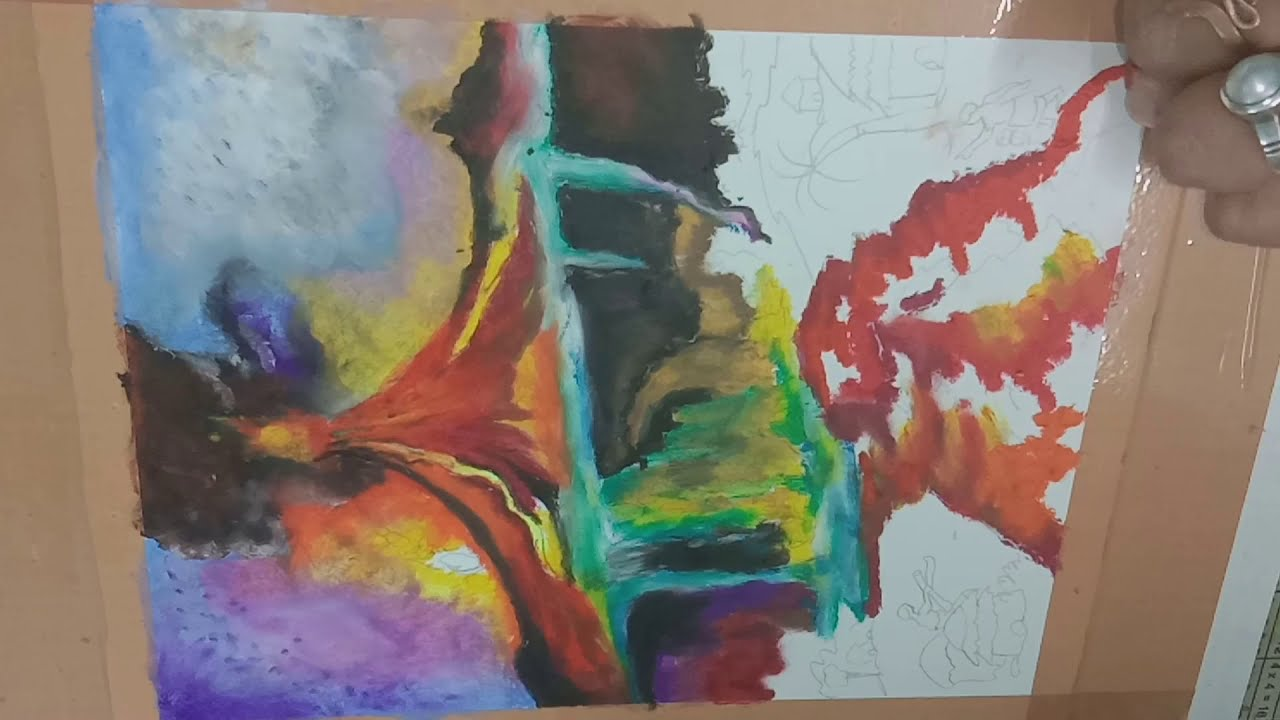 How to draw 3D Volcano Effect Painting