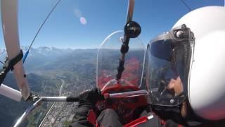 Mont Blanc French Alps Microlight flight 2016  4K