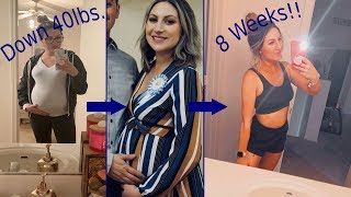 How I Lost 40 lbs. in 8 Weeks || Postpartum Weight Loss Tips and Tricks!