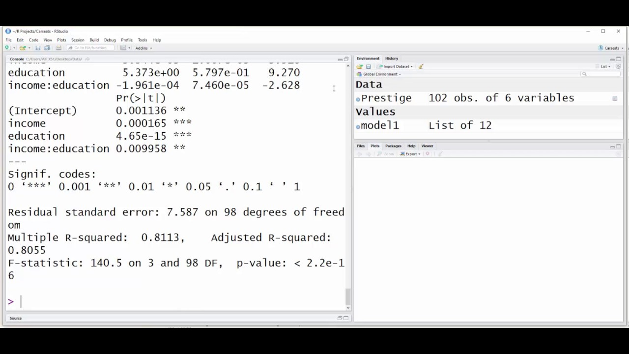 R: Using the interplot package to visualize the interaction between two  continuous variables