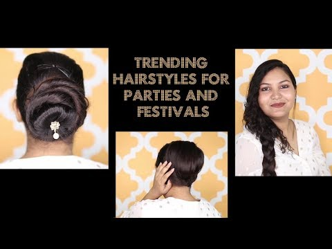 Easy Party Hairstyles for Girls|Trending Hairstyles in 2019 for Wedding & Functions/#hairstyle thumbnail