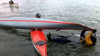 victim pulls kayak across.MOV