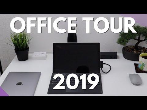 MINIMALIST Home Office Tour | 2019