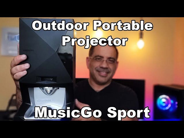 Watch Movies Anywhere!  Elite Screens MosicGo Portable Projector for the Outdoor Projector