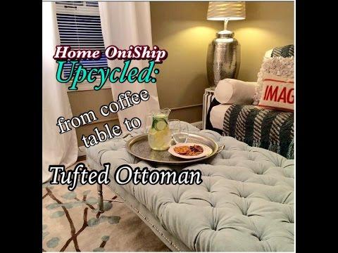 Onified DIY Diamond Tufted Ottoman