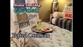 Onified DIY Diamond Tufted Ottoman