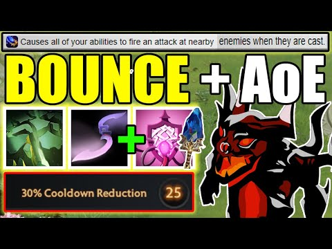 1 Skill 24 Bounces  [ Bad Juju + Moon Glaive ] ! Ability Draft Dota 2