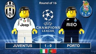 JUVENTUS vs PORTO 1-0 • Champions League 2017 • 14/03/2017 ( Film Lego Football Highlights ) Juve