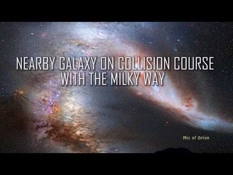 NEARBY GALAXY ON COLLISION COURSE WITH THE MILKY WAY
