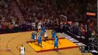 NBA 2K14 - Oklahoma City Thunder vs Miami Heat Gameplay [HD]