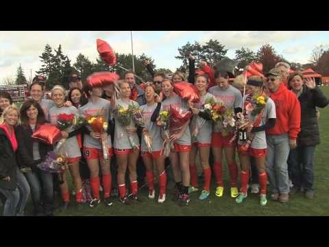 Soccer Seniors Celebrate Civil War Win