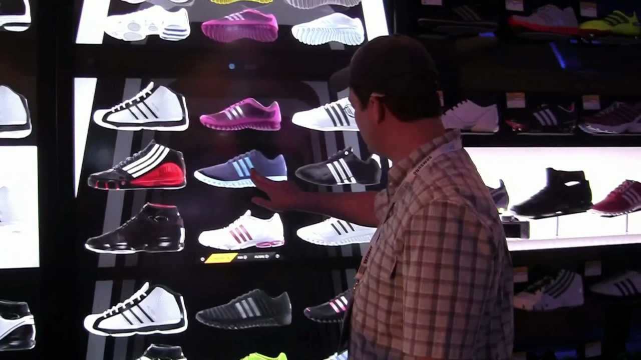 sale retailer 93c4c d41e7 Adidas Virtual Shoe Wall - The Future of Shopping - YouTube