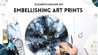 Embellishing Fine Art Giclee Prints | Tutorial/ How To | Elizabeth Karlson Art