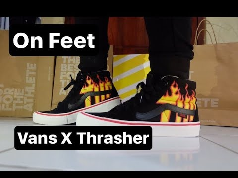 586f5f0c06 ON FEET VANS X THRASHER SK8-Hi PRO - YouTube