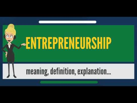 What is ENTREPRENEURSHIP? What does ENTREPRENEURSHIP mean? ENTREPRENEURSHIP meaning