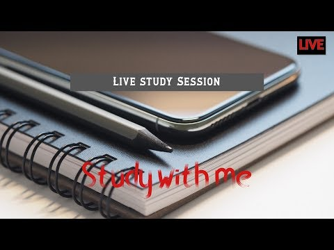 Study with me. Live study session 04📚📖🖊 (Relaxing music)