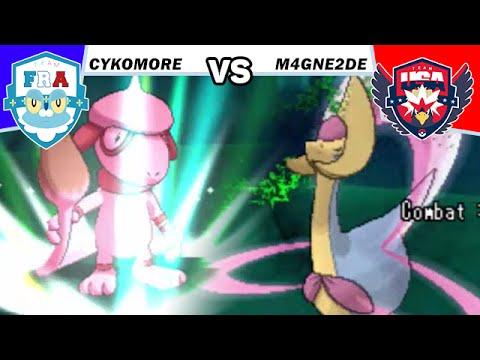 FRANCE VS USA (M4gni2de) Pokémon ROSA WIFI BATTLE LIVE - POKEMON WORLD CUP DRAFT LEAGUE