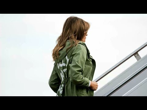 Melania Trump visits immigrant children wearing jacket that says 'I really don't care, do u?
