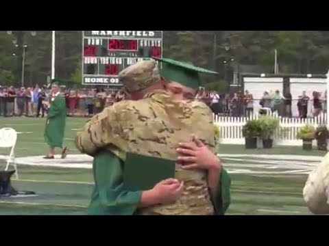 Soldier granted special leave to surprise son at graduation