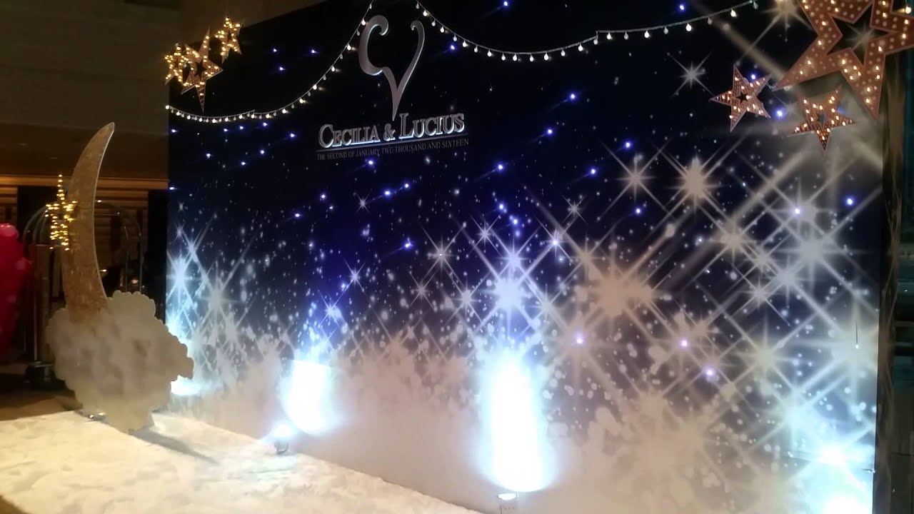 Sans Deco Starry Night Theme Wedding