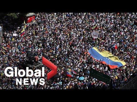Venezuelan students stage mass rally against Maduro Mp3
