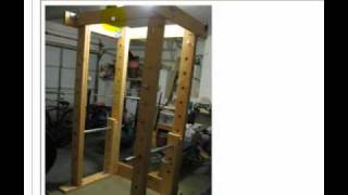 How To Build A Homemade Power Rack Out Of Wood And Pipe
