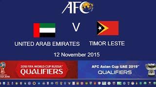 U.A.E. vs East Timor full match