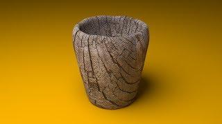 Создание деревянного стакана в Blender
