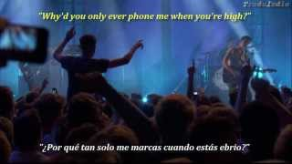 Arctic Monkeys- Why'd you only call me when you're high? (inglés y español)
