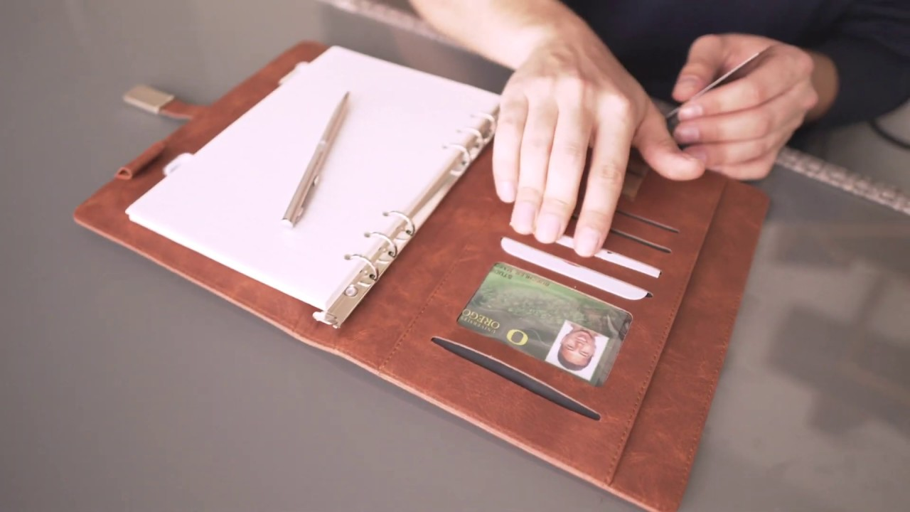 Wireless Charging Notebook // Navy video thumbnail