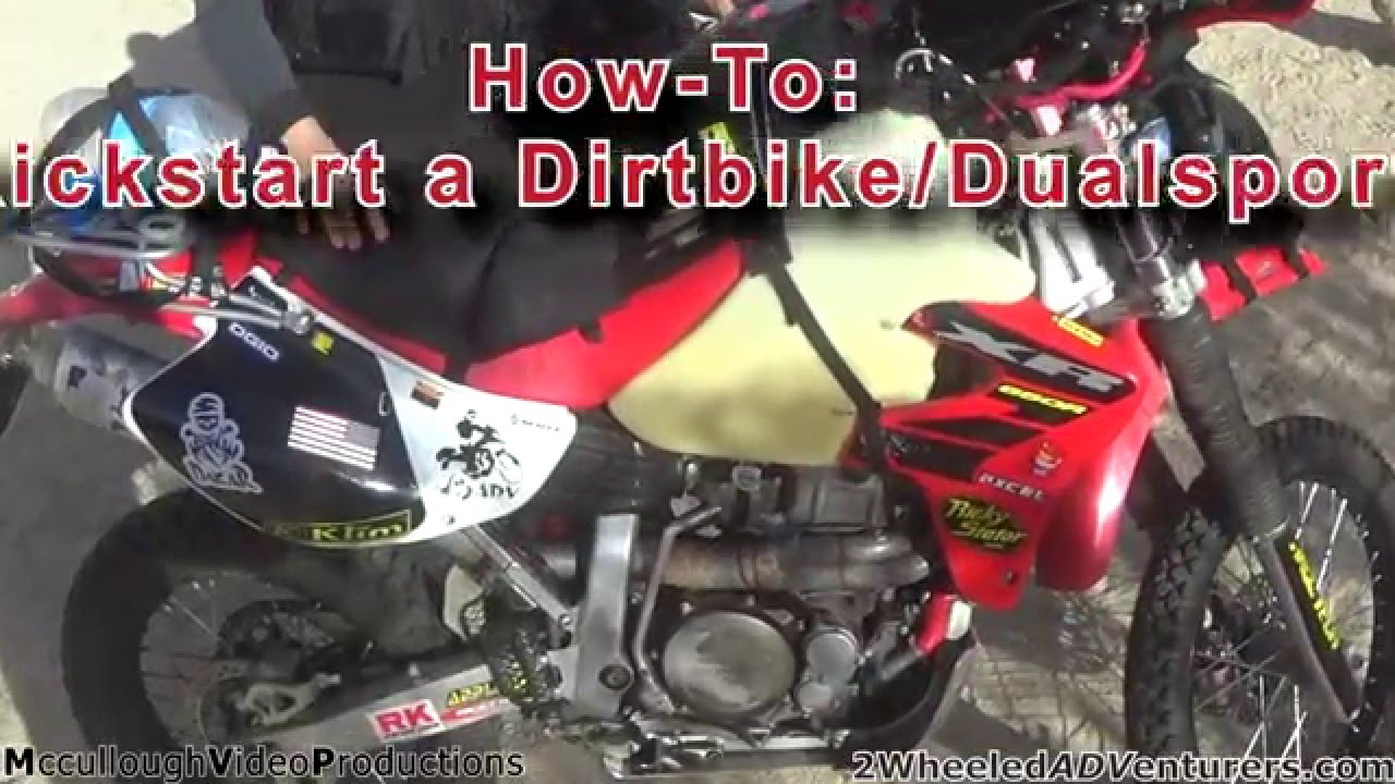 HOW TO: Kick start a dirtbike